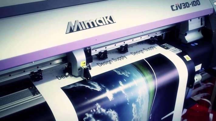 proces printare banner